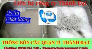 Thông tắc bồn rửa chén bát trào ngược Quận 12 lh:0938074240