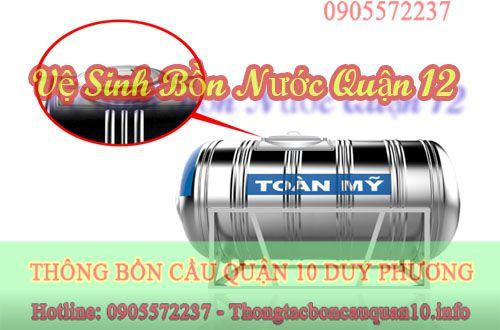 Vệ sinh bồn nước quận 12 Thành Đạt có giá bao nhiêu?
