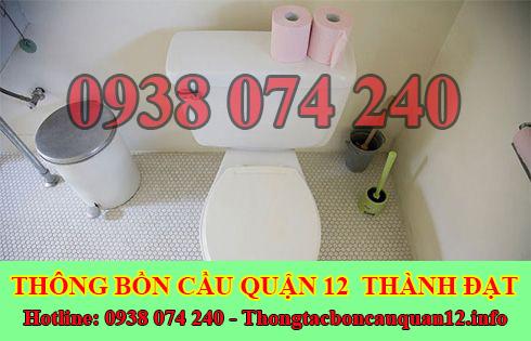 Xử lý mùi hôi bồn cầu toilet nhà vệ sinh Quận 12 Thành Đạt 0938074240