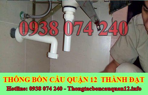 Thợ sửa bồn rửa chén bát Quận 12 tại nhà giá rẻ 0938074240