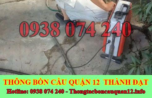 Thông đường ống nước bị tắc nghẹt Quận 12 giá rẻ 0938074240