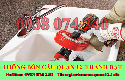 Thợ thông tắc bồn rửa mặt lavabo Quận 12 giá rẻ 0947570680